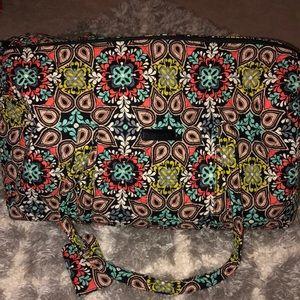 Vera Bradley duffel and luggage tag in sierra